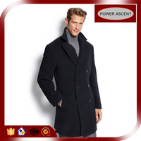 OEM Double-breasted London-style Men's Wool Coat