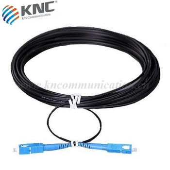 Armored waterproof fiber optic patch cable
