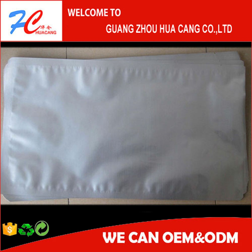 Back seal bags for food packaging heat seal aluminum foil bags with tear notch