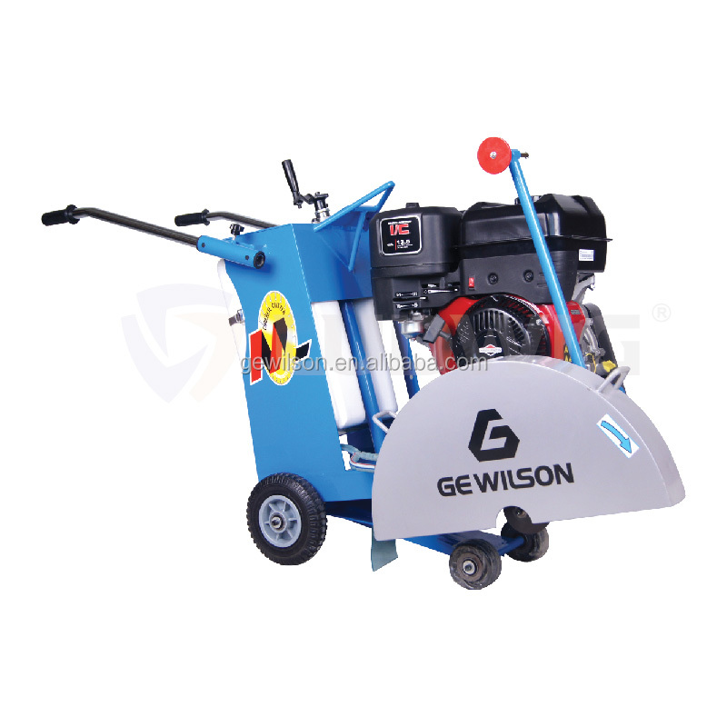 Manual push /semi -automatic gasoline 13/15 hp walk behind concrete cutter floor saw