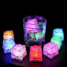 Waterproof Square Shape Color changing Glow Led Ice Cubes Candle