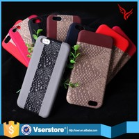New design exquisite double color design mobile back cover leather phone case for iphone 6s