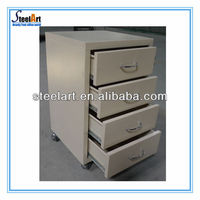 High quality three drawer mobile cabinet used in projects