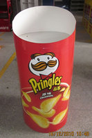 Dump Bin for Pringles/ Display Stand for Snacks / Recycled Material Cardboard Display / Pop Up Display