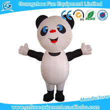 Giant inflatable panda cartoon smile panda inflatable for advertising