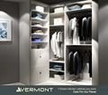 Vermont Custom Wooden His walk in closet wardrobe cabinetry / Men Bedroom closet wardrobe Furniture