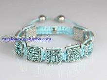 light blue squares shamballa bracelet,CQ2630