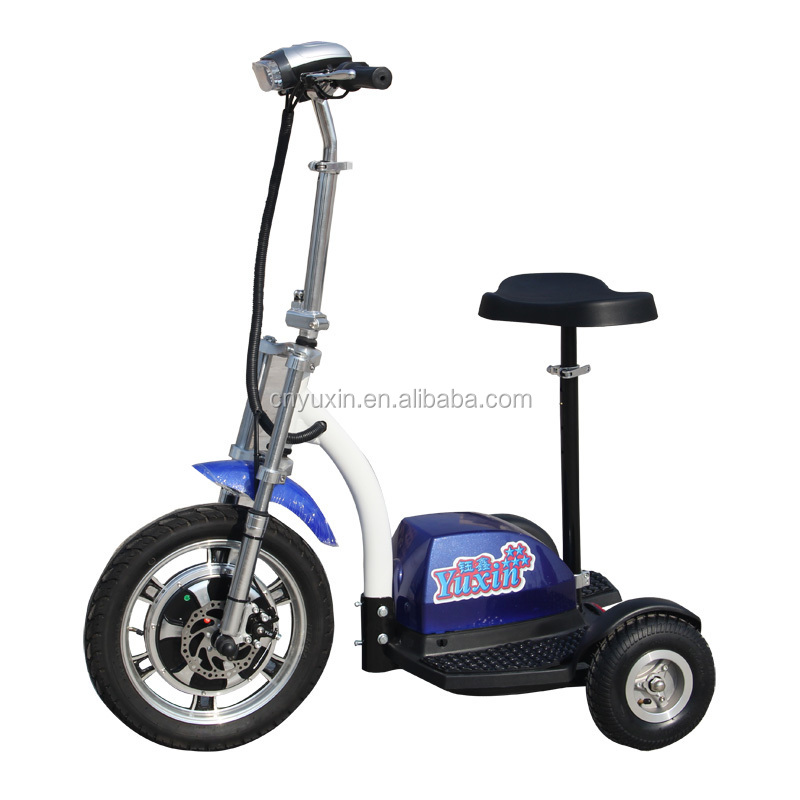 Myhope 500w48v ce rohs three wheel electric scooter for 3 wheel scooters for adults motorized
