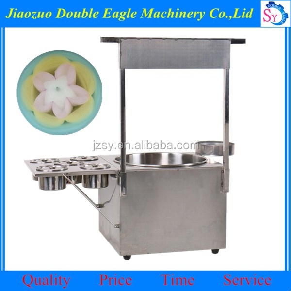 new design commercial cotton candy floss vending cart machine for sale