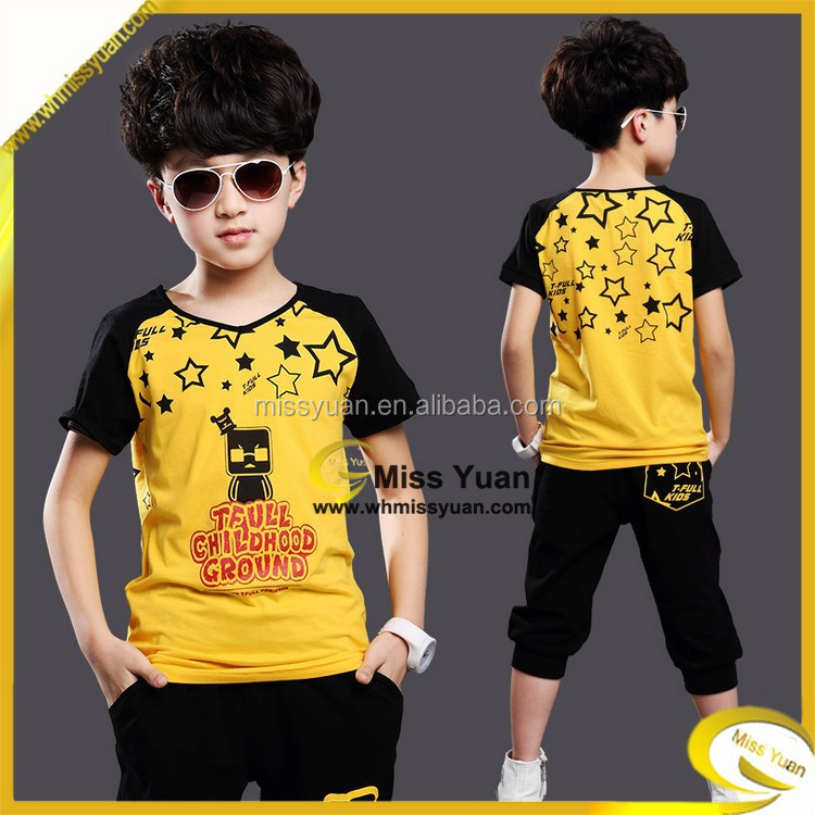 China factory Miss Yuan fashion printing clothes for boys
