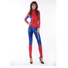 Event & Party Wholesale Sexy latex Super Woman Hero costume Sexy Fancy Dress