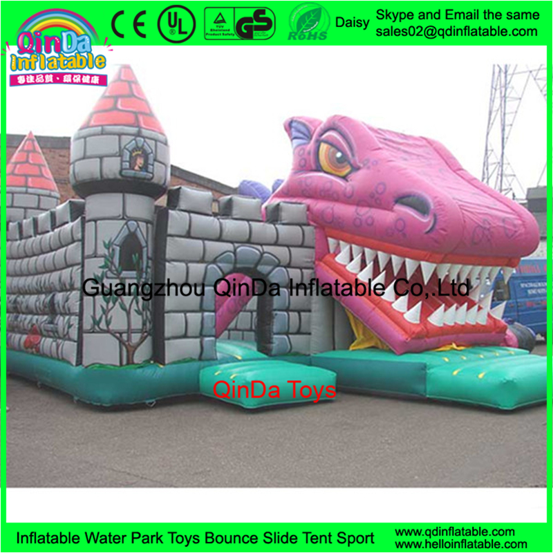 Amusement Bouncy Castle, Slide, Tunnel, Obstacle Dinosaur Adult Inflatable Bouncers Jumper