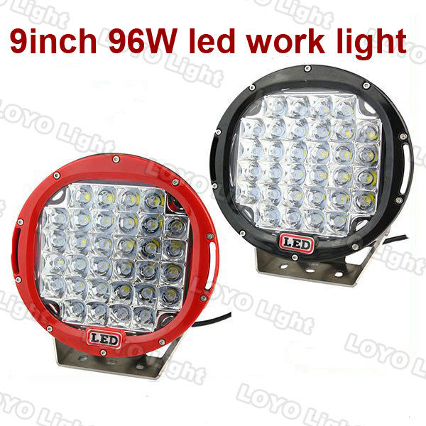 low price 96w 9inch offroad car led 4x4 lights auto accessories used for jeep, utv, atv,uv