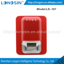 Newest loudly LS-107 fire alarm siren led strobe light