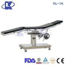 In stock! Cheapest! KL-1A Manual Operating Room Bed hydraulic manual operating table stainless steel surgical instrument table