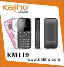 "2012 new arrival mini mobile phone KM119 with 0.95"" O-LED screen"