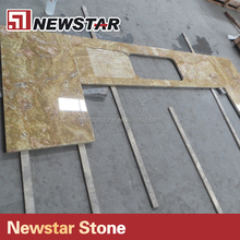 Edges flat polished King gold granite kitchen countertops