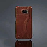 First layer real leather case for samsung s6 credit card slot leather case cover