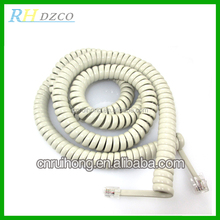 Retractable 12ft rj11 telephone tinsel handset cord