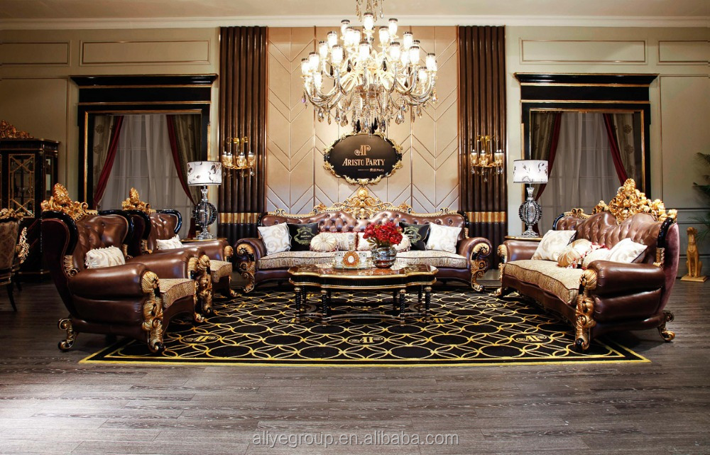 Ti 028 Antique Living Room Set Furniture Of Wooden Classical French Sofa B