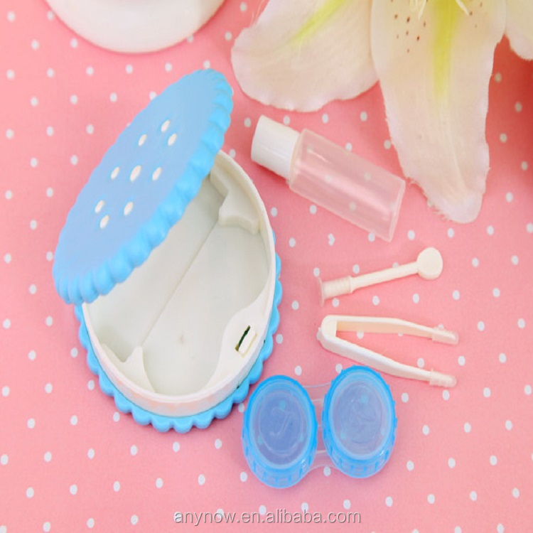 Convenient Mini Cute Lovely Sesame Cracker Travel Kit Contact Lens Case