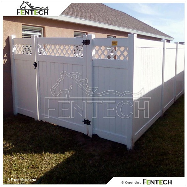 Hot Sale Lattice Top Privacy Vinyl Fence