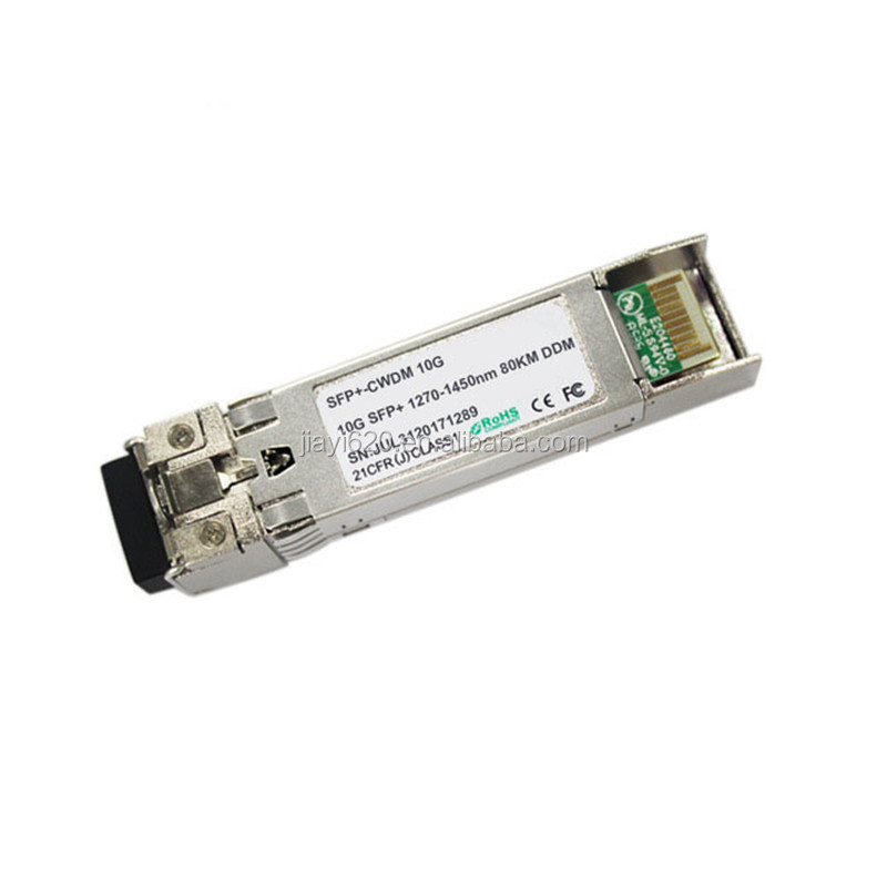 10Gbps Data Links 80km transmission on SMF dual fiber 1470-1610nm CWDM SFP use for 10GBASE-LR/LW 10G Ethernet <strong>network</strong>