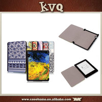 Flip book style leather case cover for Amazon Kindle Voyage E-reader tablet case