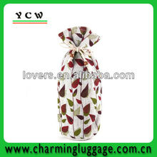 Blooming Vines Jute Sack wholesale jute wine bag