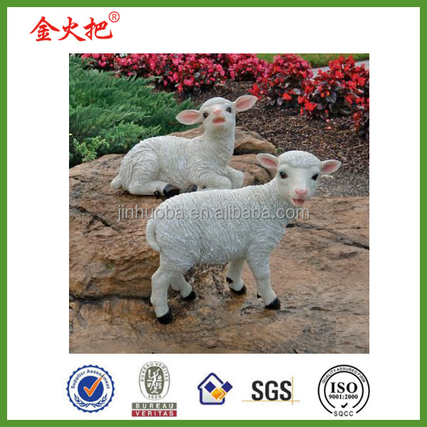 Promotion customized chop baby sheep garden statues home &yard decoration