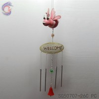 WELCOME sign ornaments of hanging room decorations with metal garden wind chime