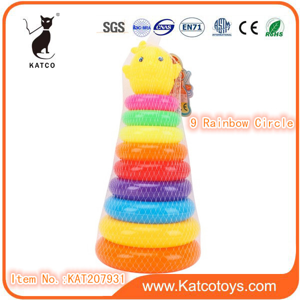 Folding Cup Education Toy Plastic Stacking Toy For Kids