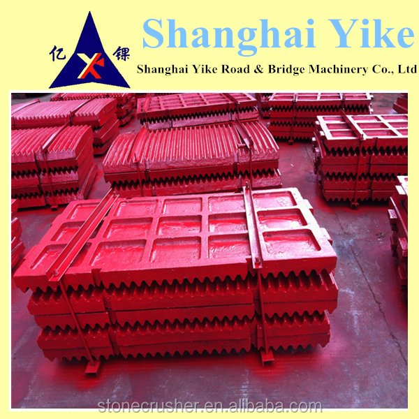 best price manganese steel scrap jaw plates China Factory