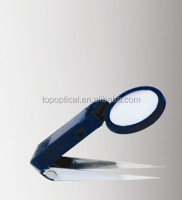 Beauty handheld plastic tweezer magnifier with led light