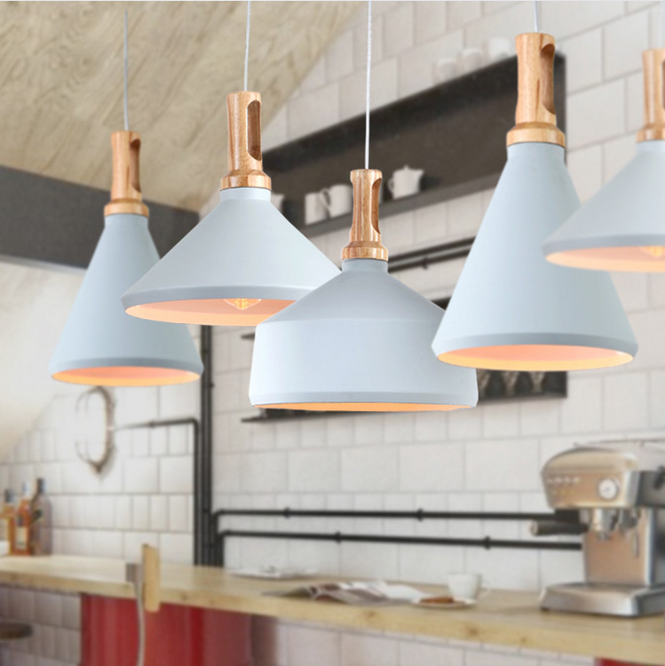 New Oak Wood & Aluminum ABC Modern Northern Europe Even Musical Instrument Wood Pendant Lights