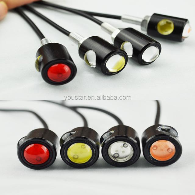 12V Xenon white LED Motorcycle & Car License Plate bolt Lights Eagle eyes backing Reverse Turn Signal light lamp DRL