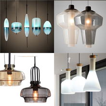 China Factory Luster Hanging Lights Incandescent Bulb Italian Glass Pendant Lamp