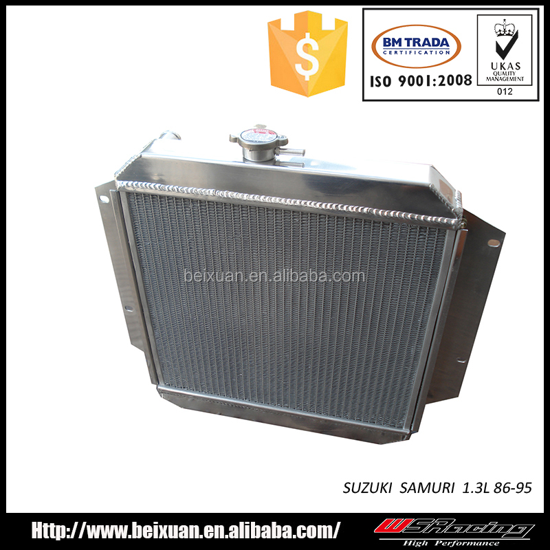 auto parts aluminium radiator for suzuki samurai 1.3L 86-95 twin core intercooler