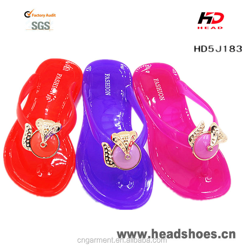 2016 Fashion design PVC Jelly Crystal Sandals,kid's Slippers