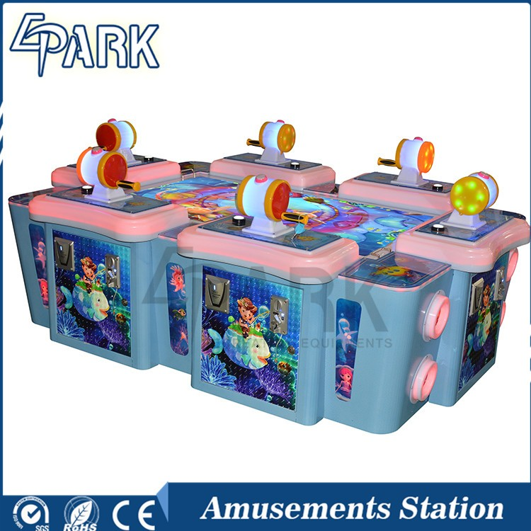 Luxury Coin Operated Ticket Redemption Fishing video Game Machine