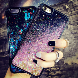 Western style gradient liquid quicksand phone case for vivo x20, blingbling stars love pattern phone case for oppo r9s/iphone 7