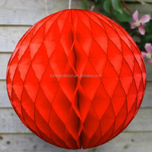 Christmas Decoration Red Hanging Tissue Paper Honeycomb Balls for Party Decoration Paper Honeycomb Balls Round Honeycomb Balls