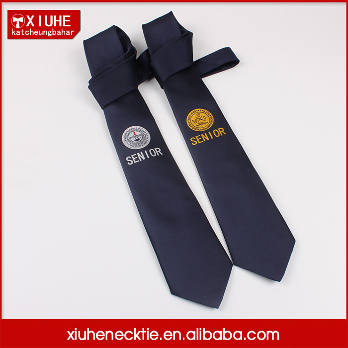 High quality promotional silk logo tie funny custom anime ties