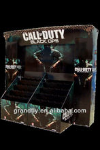 sturdy call of duty corrugated customized display black for supermarket