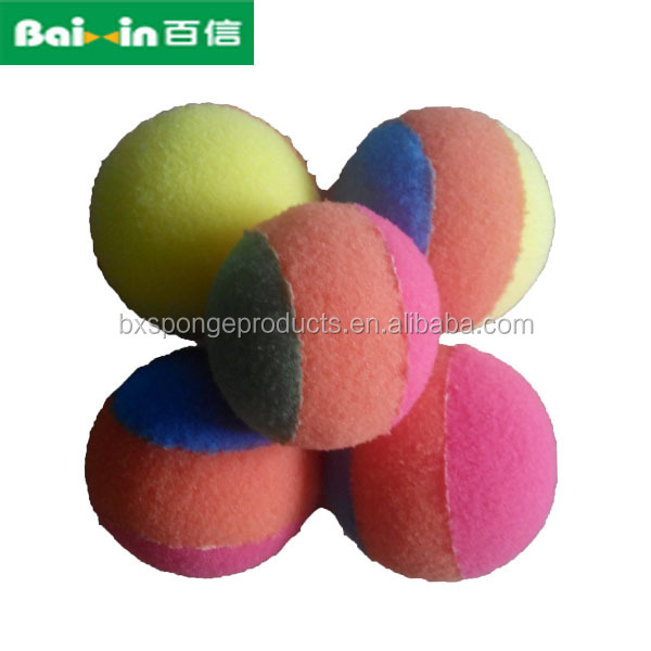 colored eco-friendly light weight sponge foam ball