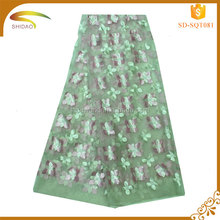 Newest Custom Hot Sales Italy French Chemical Embroidery Metallic Tulle Lace Fabric Market in Indian for bridal dress