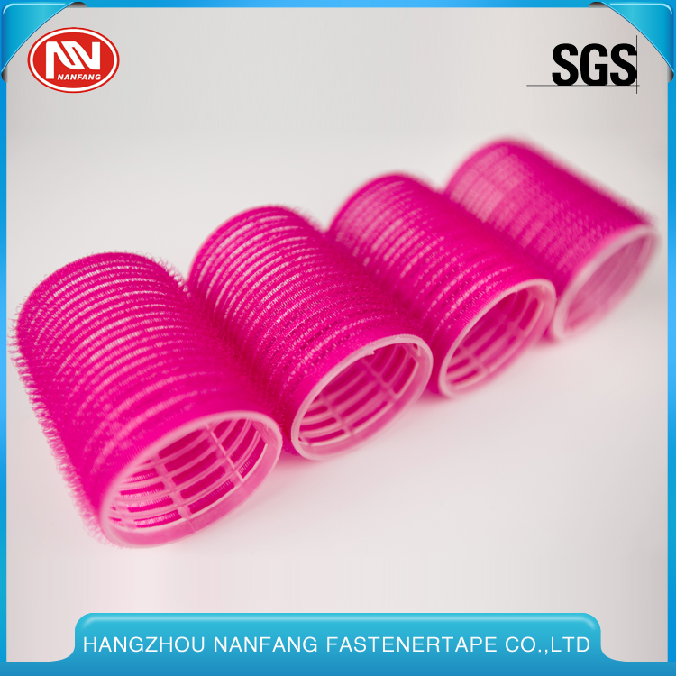 Nylon Hook And Loop Self Grip Hair Roller For Girl