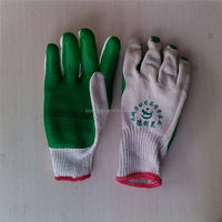 rubber coated cotton glove/led gloves