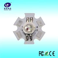 Alibaba China D20mm Aluminum Star Quility Watt High Power 3W RGB Pcb Led