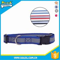 Different Colors Adjustable Nylon Pet Collar For Dog